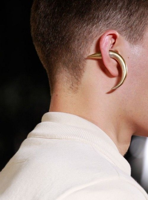 Givenchy single horn earring
