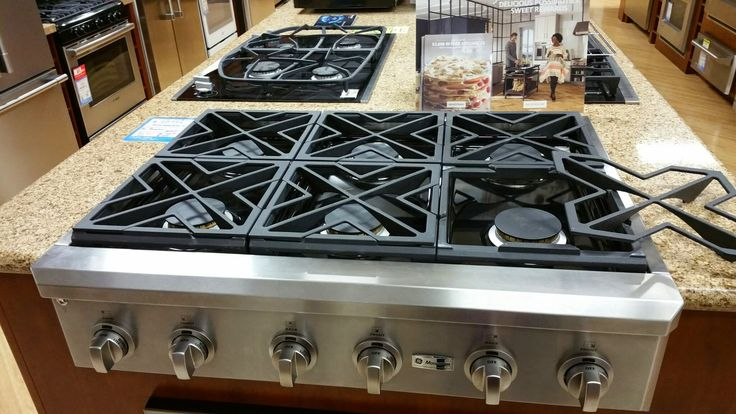Ge Quot Cafe Quot Series Cgu366seh 36 Quot Gas Rangetop With 6 Burners