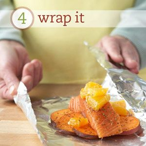 Wrap It Southwest Salmon & Sweet Potatoes - from Diabetic Living - cook with less salt and less fat