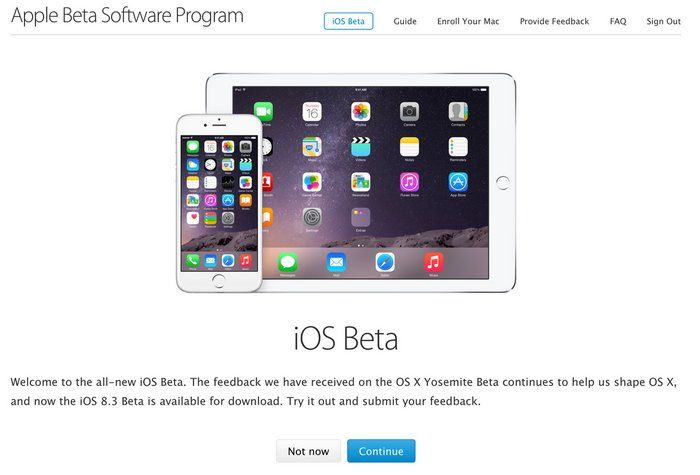 Por primera vez Apple lanza una beta pública de su sistema operativo móvil: iOS 8.3 beta está disponible
