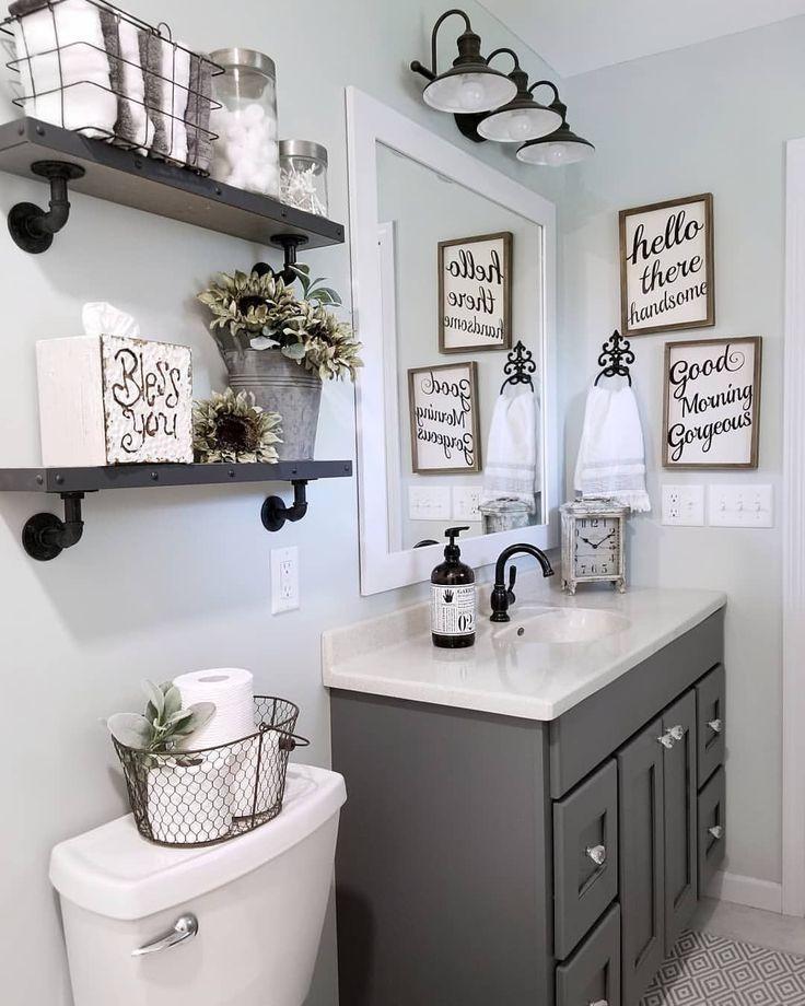 Bathroom Mirror Ideas On Budget Minimalist And Modern Bathrooms Mirrors Farmhouse Bathroom Organizers Small Bathroom Decor Bathroom Decor