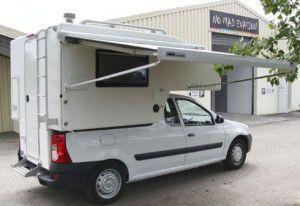 """Boîte a camper"" pentru Dacia Logan Pick-up   takethelongwayhome.eu"