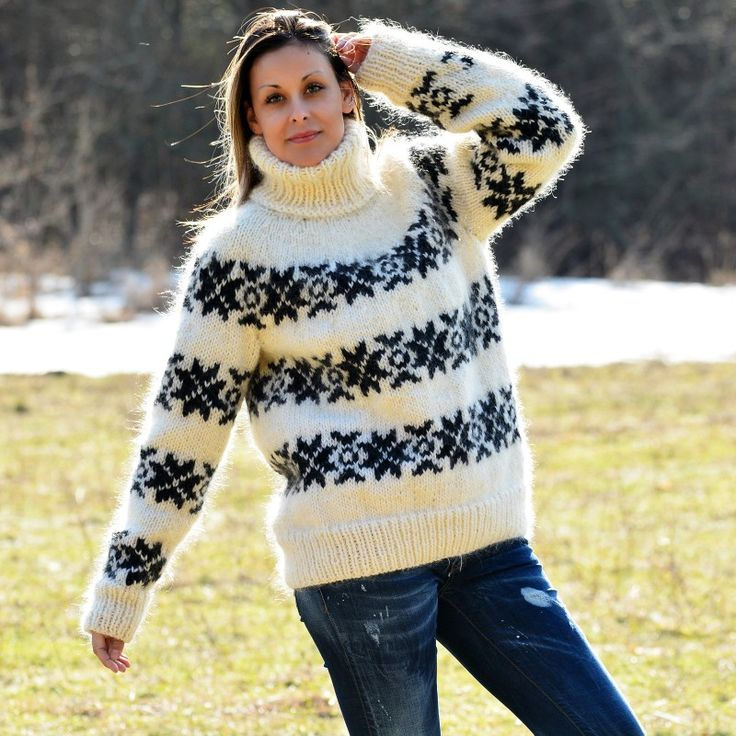 https://extravagantza.com/icelandic-sweater/358-icelandic-hand-knit-mohair-and-wool-sweater-white-and-black-fuzzy-turtleneck.html