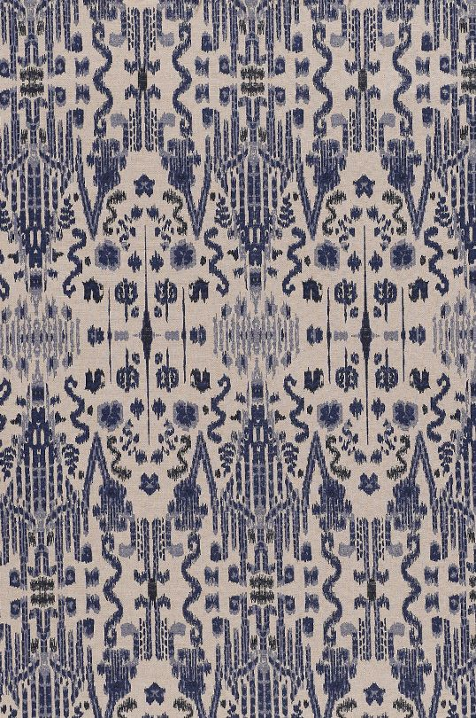 Mumbai -  Indian Blue fabric from Lacefield Designs - $40 per yard www.lacefielddesigns.com
