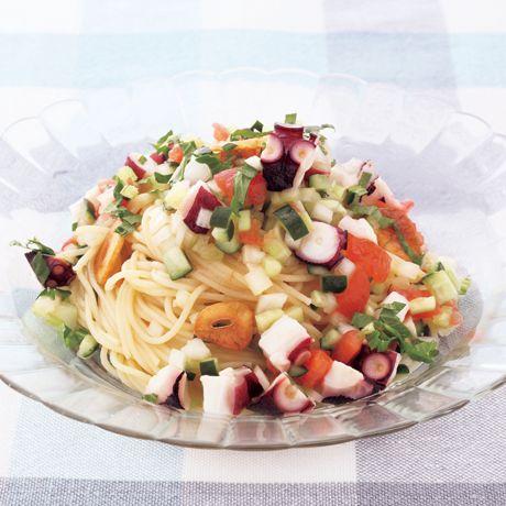 たこと彩り野菜の冷製パスタ | 坂田阿希子さんのパスタの料理レシピ | プロの簡単料理レシピはレタスクラブニュース