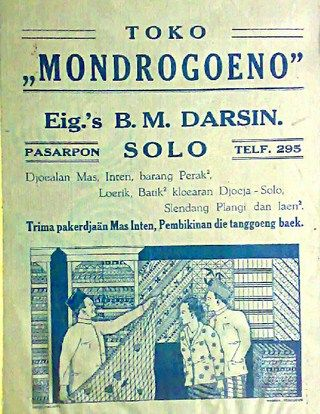 "Toko ""Mondrogoeno"" Solo"