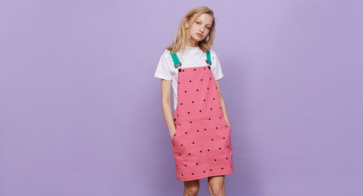 Lazy Oaf Watermelon Dungaree Dress