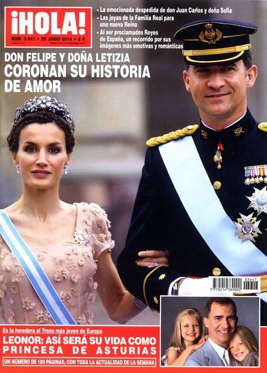 Capa da revista ¡HOLA! poucos dias antes da coroação de Felipe e Letizia.