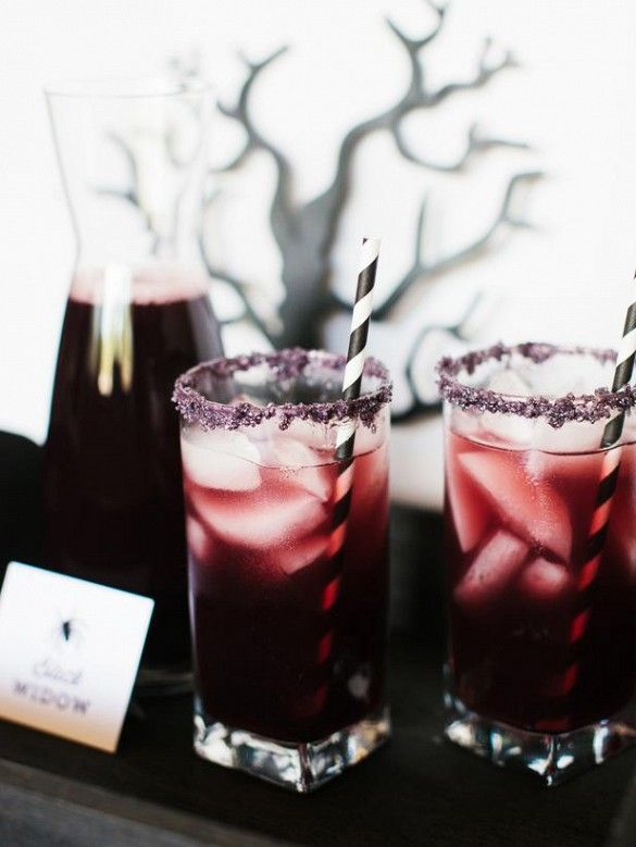 #Black Widow #cocktail recipes for festive #Halloween Parties