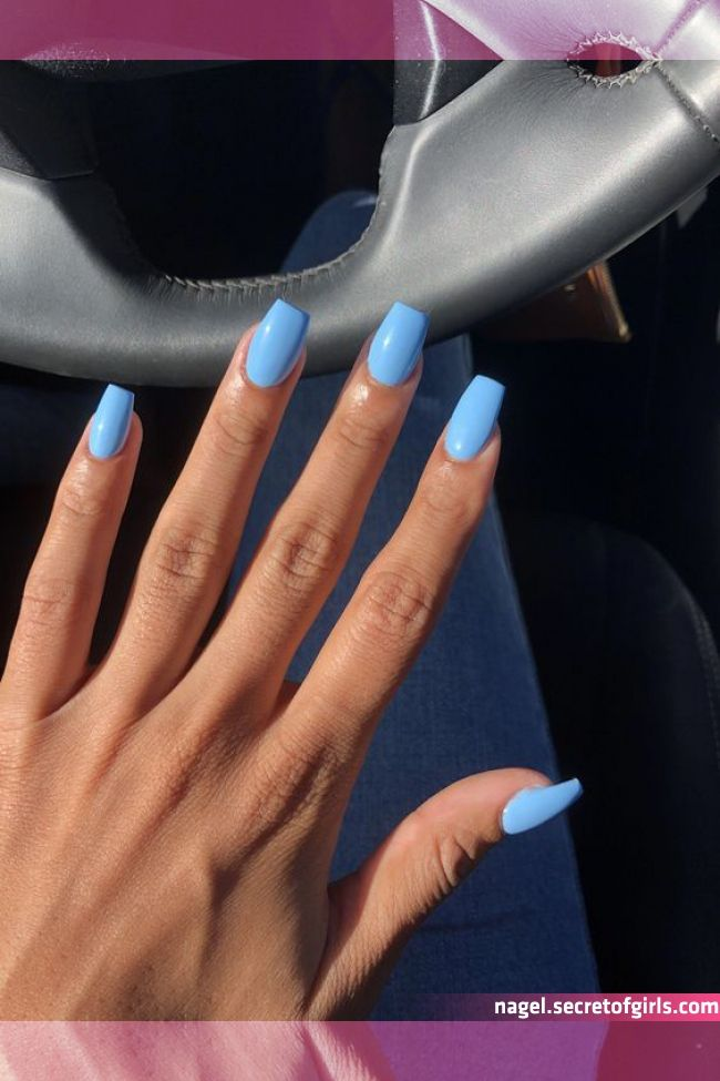 56 Stylish Acrylic Coffin Nail Designs And Colors For Spring In 2020 Blue Acrylic Nails Long Nai In 2020 Blue Acrylic Nails Pretty Acrylic Nails Short Acrylic Nails