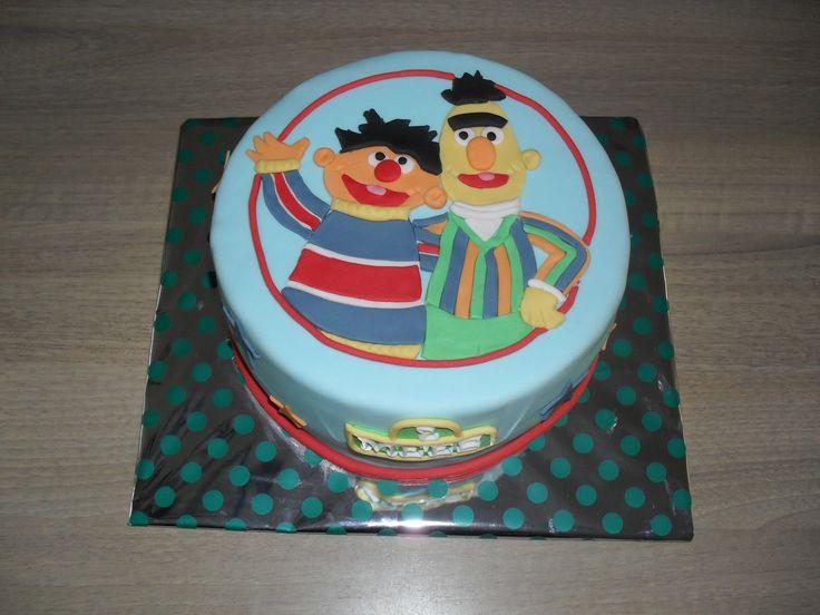 Bert and Ernie cake, Sesame street/ Bert en Ernie taart, Sesamstraat