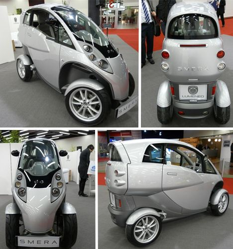 Aptera Typ-1. The electric version of the Typ-1 has a 125-mile range while the gasoline version gets up to 300 mpg.