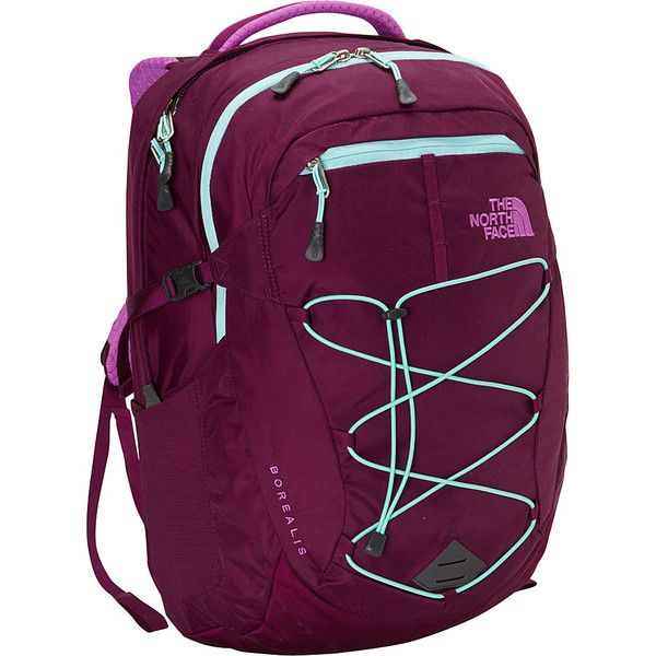 The North Face Women's Borealis Laptop Backpack ($89) ❤ liked on Polyvore featuring bags, backpacks, laptop backpacks, purple, backpacks bags, purple laptop bag, padded laptop bag, laptop bag and laptop pocket backpack