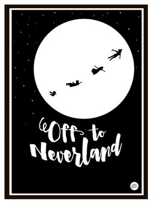 """Disney-inspired Peter Pan print - """"OFF TO NEVERLAND"""". A3 size can be bought at EpicDesignShop.com  http://epicdesign.tictail.com/product/a3-neverland"""