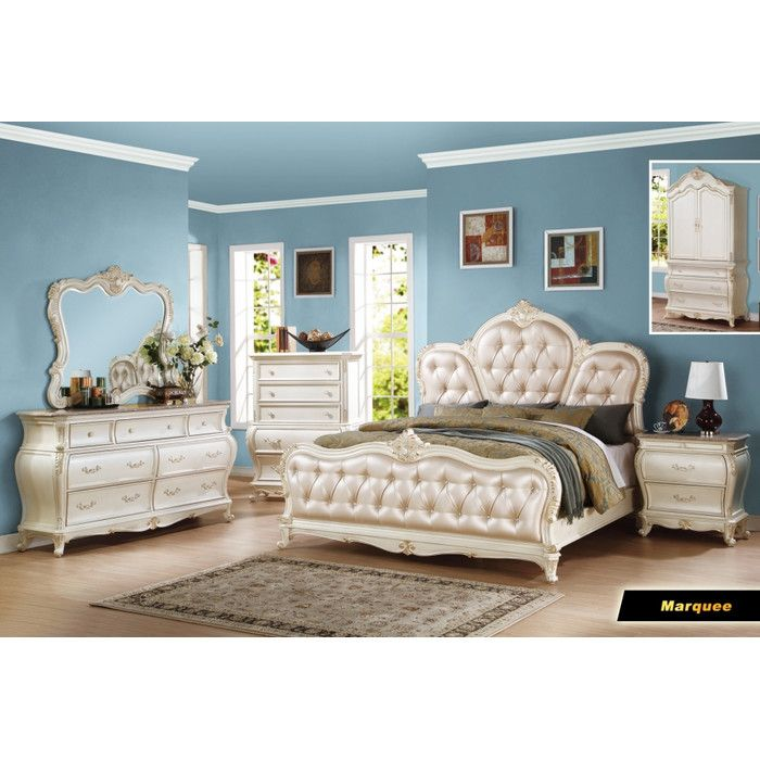 Meridian Furniture USA Marquee 7 Drawer Dresser with Mirror & Reviews | Wayfair