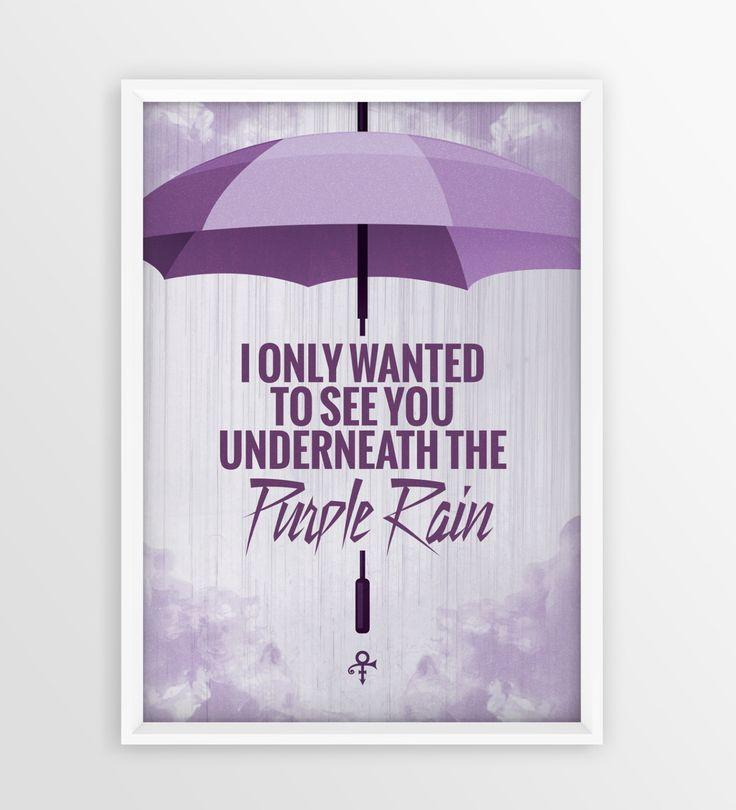 Prince Purple Rain Lyrics Poster Print A4 & A3 by ChrisCampbellDesign on Etsy