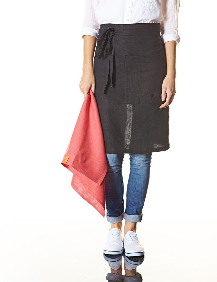 Abode Living - Dining & Kitchen - Accessories - Citi Half Apron - Nero
