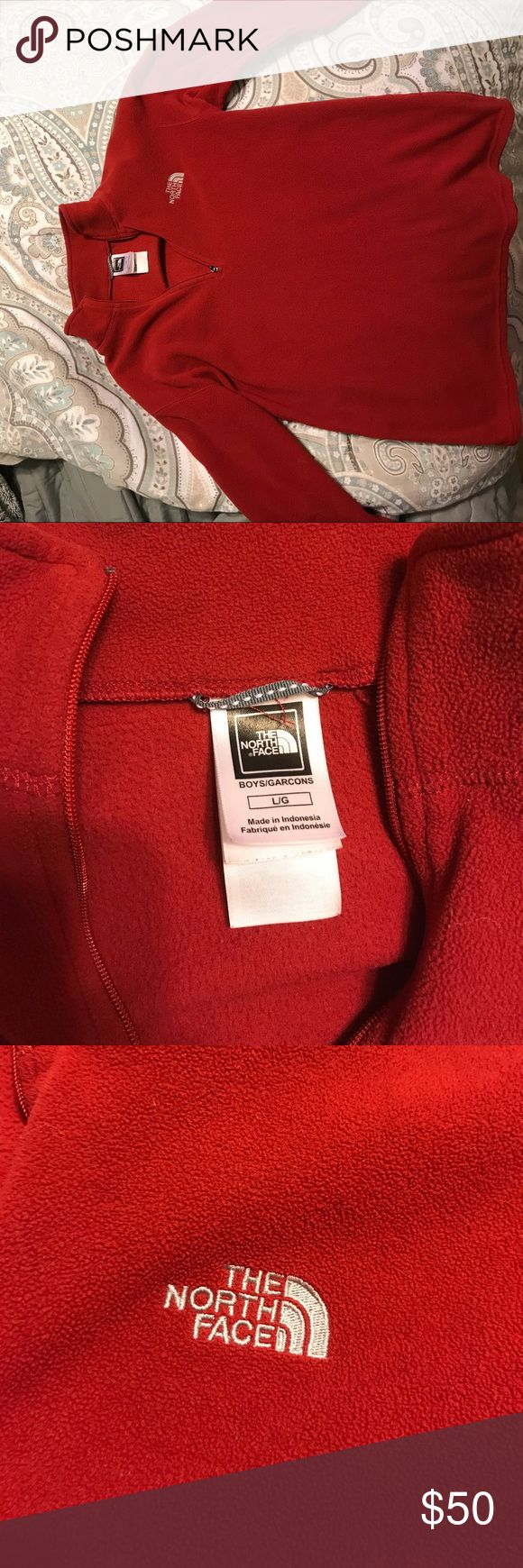 North face fleece pull over It's a boys large which fits like a petite small for girls! North Face Jackets & Coats