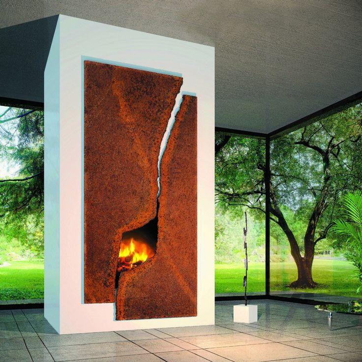 Design camino focolare aperto molto particolare - vera opera d'arte