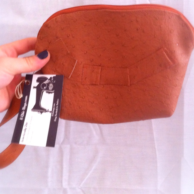 Setting Sun in Ostrich-Going Out Bag by E Chic bags.