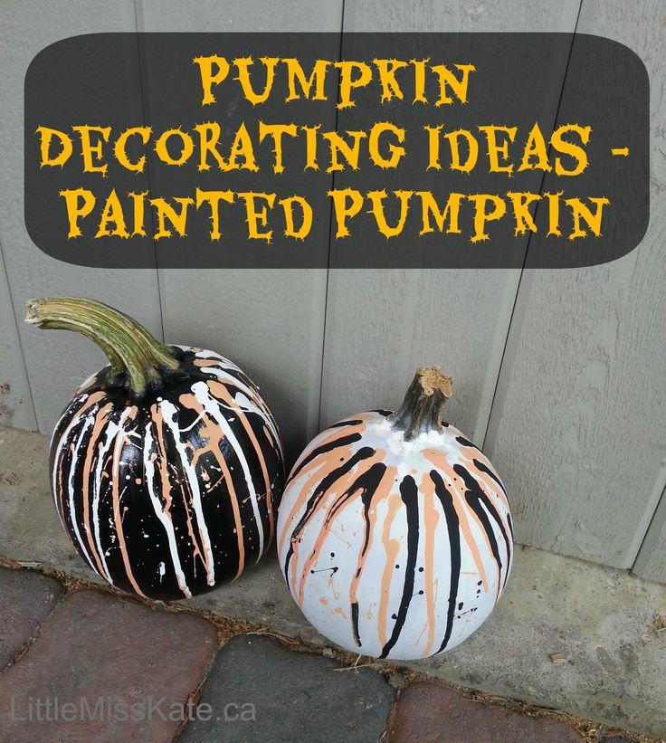 Pumpkin Decorating Ideas - Painted Pumpkins Halloween decorating ideas - get creative with painted pumpkins!