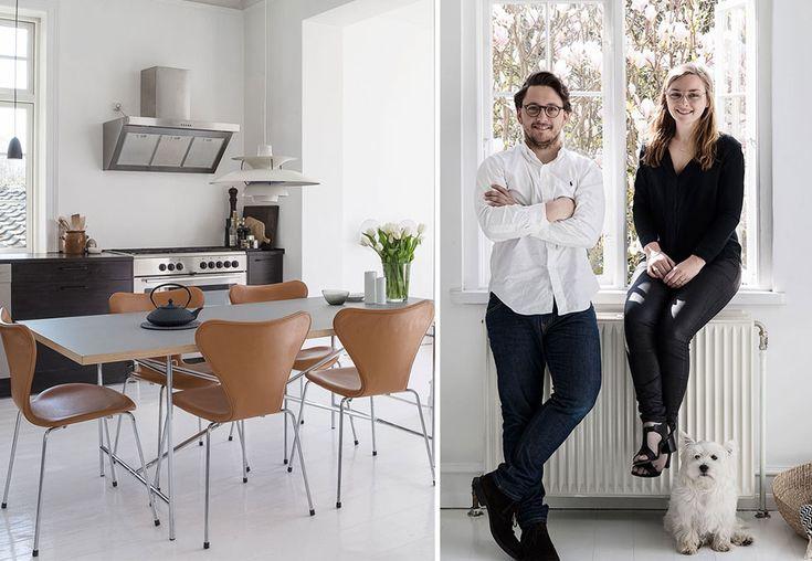 Johanne og Peter kjøper designmøbler brukt og innreder sparsommelig med husets arkitektur i fokus.
