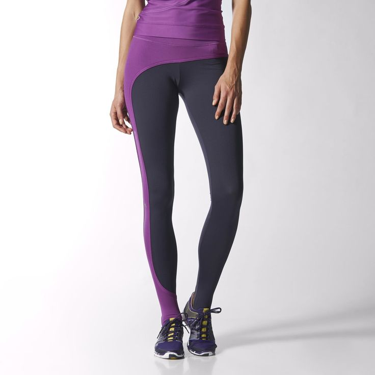 Asymmetrical colorblocking and a comfortable stirrup design set these adidas by Stella McCartney Studio Performance Long Tights apart. Climalite® fabric draws moisture away from your skin, leaving you feeling dry and comfortable. These studio tights are knit from earth-friendly recycled yarn and finished with a Stella logo down one side.