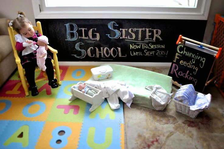 Big Sister School - our birth announcement for baby #2!