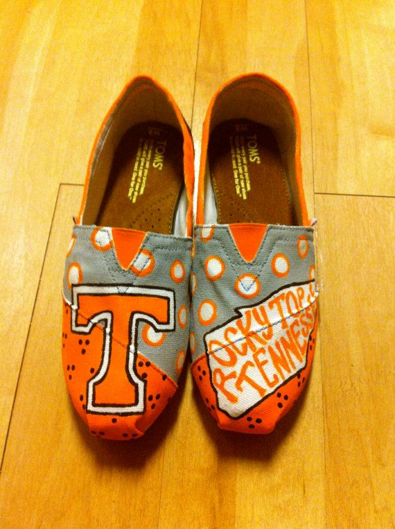 Tennessee TOMS by Something2Braggabout on Etsy, $110.00 @Stephany Jackson you need to make me these!!!!