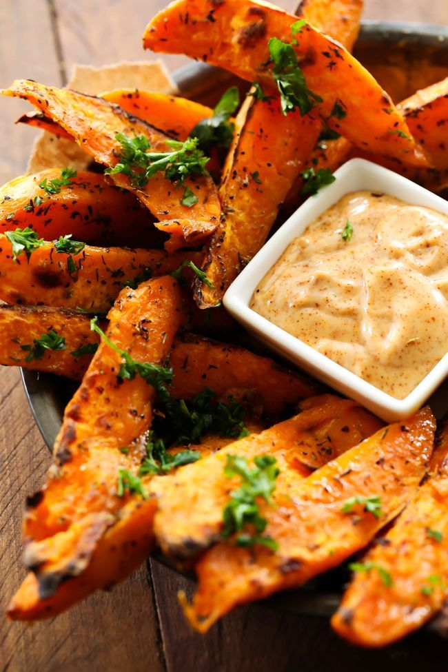 These Sweet Potato Wedges are SO yummy and the Honey Chipotle Dipping Sauce is the PERFECT compliment! They are savory and absolutely incredible!!