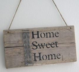 """Steigerhout """"Home Sweet Home""""   Steigerhout   Esmee Styling"""