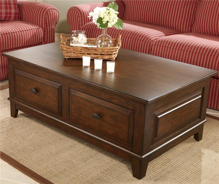 Larchmont Rectangular Coffee Table by Ashley Furniture - Beck's Furniture - Cocktail or Coffee Table Sacramento, Rancho Cordova, Roseville, California