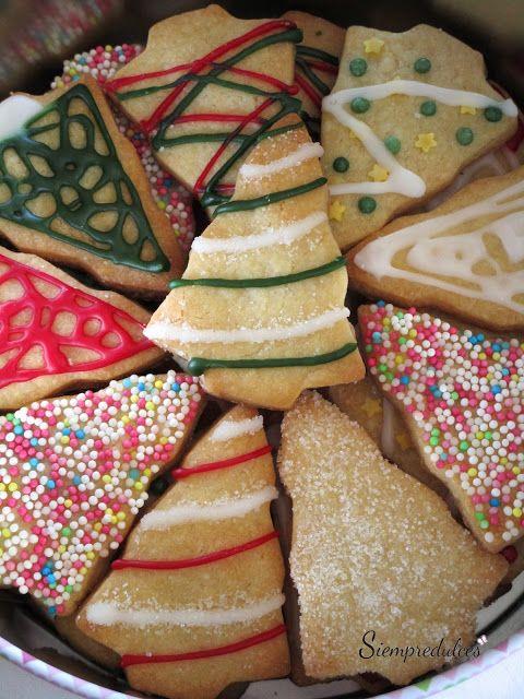 Galletas de azúcar (Sin huevo) - Eggless sugar cookies