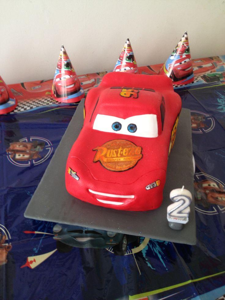Cars, Bliksem McQueen taart, gemaakt door Tanja Faber