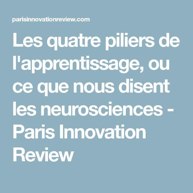 Les quatre piliers de l'apprentissage, ou ce que nous disent les neurosciences - Paris Innovation Review