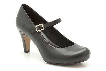 Clarks Chorus Jazz, Black Leather, Womens Smart Shoes