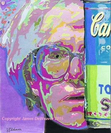 Andy Warhol and his contribution to Modern Art will never be forgotten. #Drawing by James DeWeaver Copyright 2015 #andywarhol #art #popart