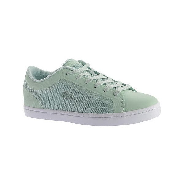 Women's Lacoste Straightset 116 4 Sneaker Casual ($100) ❤ liked on Polyvore featuring shoes, sneakers, casual, casual shoes, lacoste sneakers, flexible shoes, lacoste shoes, lacoste trainers and retro shoes
