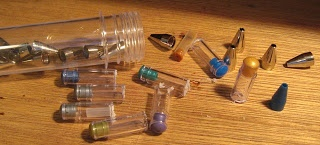 Caseys Minis: Mini jars from gel pens.  Now why have I been throwing these away for years?