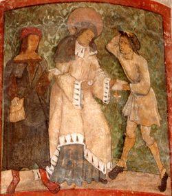 Fresque de l'église Saint-Nicolas de Port (54)