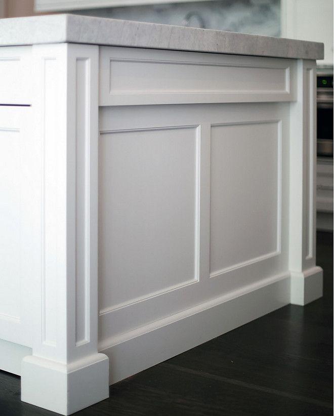 Island end. Island end panel. Shaker kitchen island panel. Beautiful kitchen island end panel with double thickness white quartzite countert...