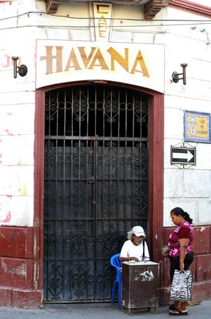 Cafe Havana, Cartagena, Colombia.  One of the best bars you can go to.