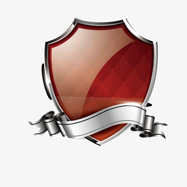 الدرع الأحمر جولس درع فضي Png و فيكتور Red Shield Red Decor