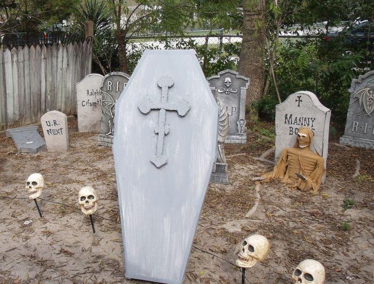 halloween yard coffin