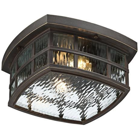 "Stonington 12"" Wide Palladian Bronze Outdoor Ceiling Light"