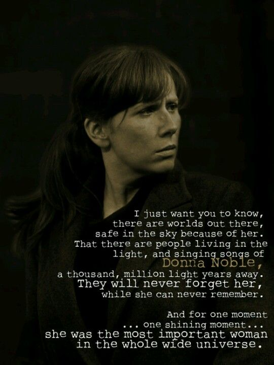 Donna Noble was, without a doubt, my favorite companion. I still cry every time I even think about her final episode...