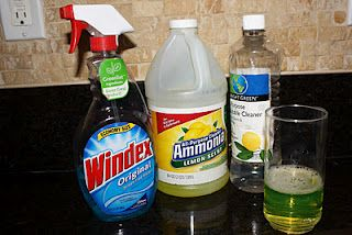 homemade jewelry cleaner:  1/4 cup ammonia  1/4 cup all-purpose cleaner (Mr. Clean)  1/4 cup HOT water  -Let ring soak for 5 minutes or so  -Remove and spray Windex for extra sparkle!