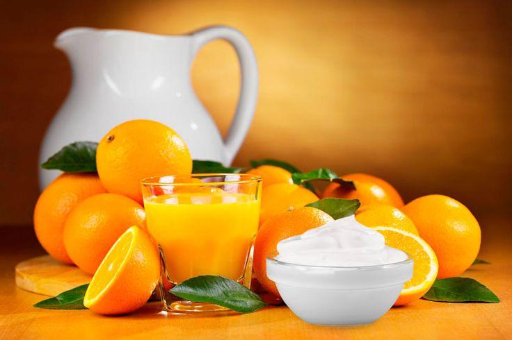 DIY-Rezept für eine selbstgemachte Orangen-Quark Haarkur mit Vitamin E