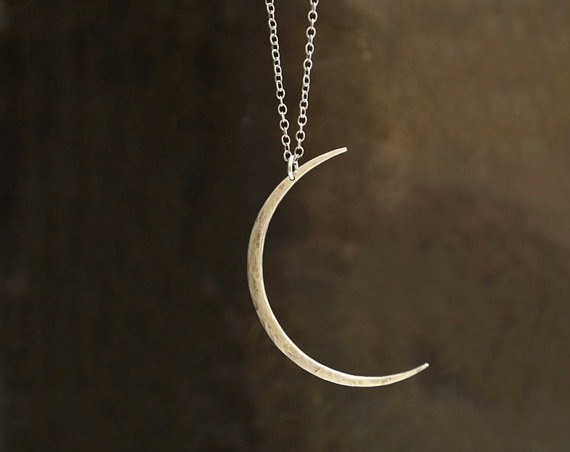 Crescent Moon: Silver Necklaces, Modern Crescent, Crescent Moon, Moon Necklace