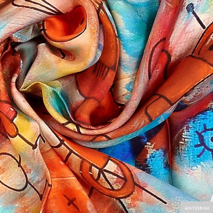 ANTORINI Silk Scarf in Colourful shades